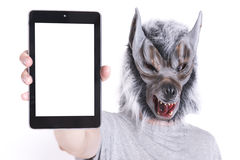 Wolf met technologie Stock Foto's