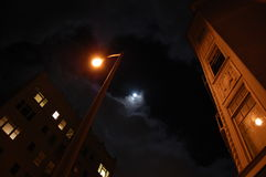 Wolf Moon San Francisco stock photo