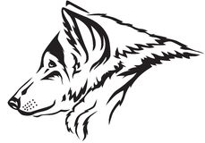 Wolf muzzle. The contour image of the wolf's muzzle Royalty Free Stock Photography