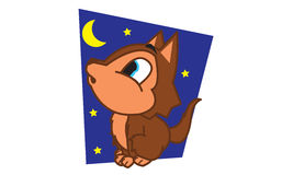 Wolf at night Stock Photos