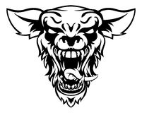 Wolf Or Werewolf Mascot Royalty Free Stock Photo