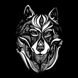 Wolf portrait. Vector abstract polygonal geometric illustration. Royalty Free Stock Images