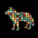 Wolf predator color silhouette animal. Vector Illustrator Stock Photo