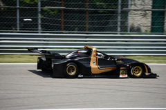 Wolf Racing Cars Prototype. Guglielmo Belotti brings a Wolf Sports Prototype on track at the Monza Circuit Stock Image