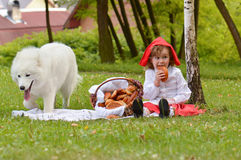 Wolf and red riding hood Royalty Free Stock Photos