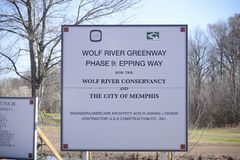 Wolf River Conservancy, Raleigh Frayser. Wolf River Conservancy by authority of the Tennessee Department of Environment and Conservation Stock Images