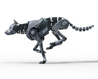 Wolf robot running Stock Images