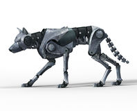 Wolf robot walking Royalty Free Stock Photo