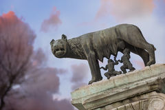 She-wolf rome Stock Images