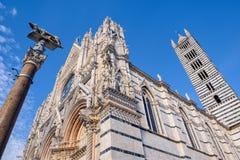 View of Siena Cathedral Santa Maria Assunta Duomo di Siena in Royalty Free Stock Photos