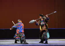"wolf's fangs mace-Peking opera ""Little Worriors of Yeuh's family"" Royalty Free Stock Photography"