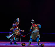 "Wolf's fangs mace-Peking opera ""Little Worriors of Yeuh's family"" Royalty Free Stock Photos"