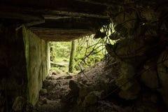 Wolf ` s Lager, Adolf Hitler-` s Bunker, Polen Erste östliche vordere militärische Hauptquartiere, Zweiter Weltkrieg Komplex expl Lizenzfreies Stockfoto