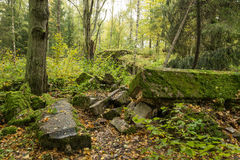 Wolf ` s Lager, Adolf Hitler-` s Bunker, Polen Erste östliche vordere militärische Hauptquartiere, Zweiter Weltkrieg Komplex expl Stockbild