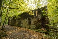 Wolf ` s Lager, Adolf Hitler-` s Bunker, Polen Erste östliche vordere militärische Hauptquartiere, Zweiter Weltkrieg Komplex expl Lizenzfreie Stockfotografie