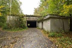 Wolf ` s Lager, Adolf Hitler-` s Bunker, Polen Erste östliche vordere militärische Hauptquartiere, Zweiter Weltkrieg Komplex expl Lizenzfreie Stockfotos