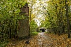 Wolf ` s Lager, Adolf Hitler-` s Bunker, Polen Erste östliche vordere militärische Hauptquartiere, Zweiter Weltkrieg Komplex expl Lizenzfreies Stockbild