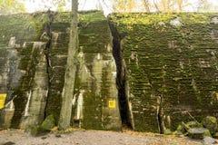 Wolf ` s Lager, Adolf Hitler-` s Bunker, Polen Erste östliche vordere militärische Hauptquartiere, Zweiter Weltkrieg Komplex expl Lizenzfreie Stockbilder