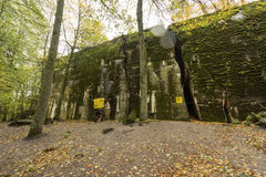Wolf`s Lair,  Adolf Hitler`s Bunker, Poland. First Eastern Front military headquarters, World War II. Complex blown up, abandoned Royalty Free Stock Photos
