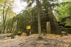 Wolf`s Lair,  Adolf Hitler`s Bunker, Poland. First Eastern Front military headquarters, World War II. Complex blown up, abandoned Stock Photo
