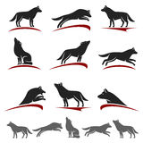 Wolf set. Vector Royalty Free Stock Photo