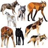 Wolf set Royalty Free Stock Photos