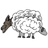 Wolf In Sheeps Clothing Royalty Free Stock Photos