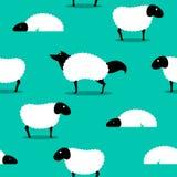 Wolf in Sheeps nahtloses Hintergrundidiom kleidend Stockfoto
