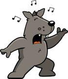 Wolf Singing Stock Image