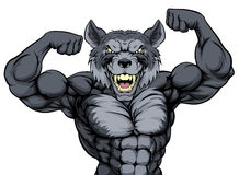 Wolf Sports Mascot libre illustration