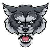 Mean wolf sports mascot stock vector. Illustration of ...