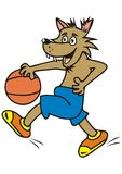 Wolf, sportsman Stock Image