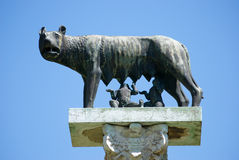 She-wolf on Square of Miracles in Pisa, Italy Royalty Free Stock Photo