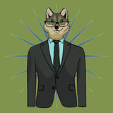 Wolf in suit stock illustration