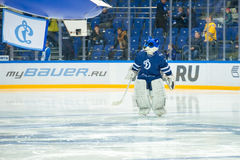 The wolf - a symbol of the hockey  club Dynamo Moscow Royalty Free Stock Images