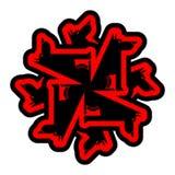 Wolf symbol. Werewolf Sign. Forest predator. Vector illustration.  Royalty Free Stock Photos