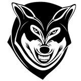 Wolf, tattoo. Wolf with a grin in the form of a tattoo Stock Photography