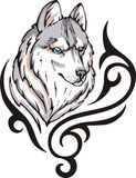 Wolf tattoo Royalty Free Stock Images