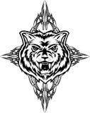 Wolf tattoo dezign. Vector illustration wolf tattoo dezign Royalty Free Stock Photo