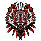 Wolf Tattoo Style Haida Art Stockfotos