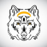 Wolf tattoo stylish illustration Stock Images