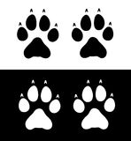 Wolf-Tatze-Drucke Stockbild