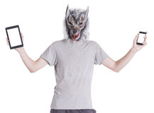 Wolf with technology Royalty Free Stock Image