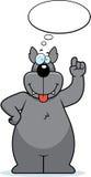 Wolf Thinking Royalty Free Stock Image