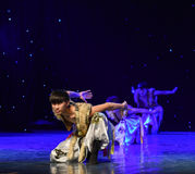 Wolf Totem-Mongolia National Dance Stock Images