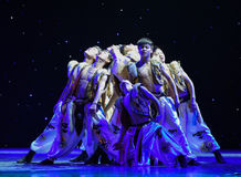 Wolf Totem-Mongolia National Dance Royalty Free Stock Photography