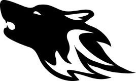 Wolf. Tribal wild wolf. Tattoo style vector Royalty Free Stock Image