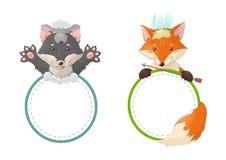 Wolf und Fuchs Lizenzfreies Stockfoto