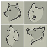 Wolf. Vector collection of wolf images and icons Royalty Free Stock Images