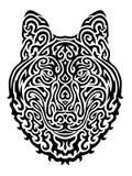 Wolf Vector Illustration tribale Fotografia Stock
